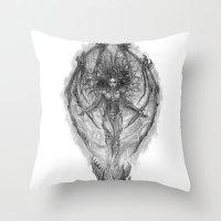 starcraft Throw Pillows featuring Demon Queen Kerrigan by Aeriz85