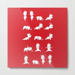 Yoga Bear - Polar Bear Metal Print