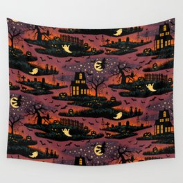 Halloween Night - Bonfire Glow Wall Tapestry