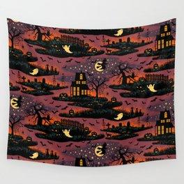 Halloween Night - Bonfire Glow Wall Tapestry