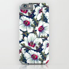 New Zealand Hibiscus Floral Print (Night) iPhone 6s Slim Case