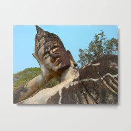 Napping Buddha  Metal Print