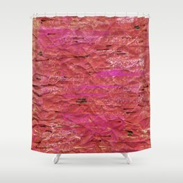 texture red Shower Curtain