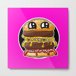 Fast Food FRENZY - Cheezy Carole HOT PINK Metal Print