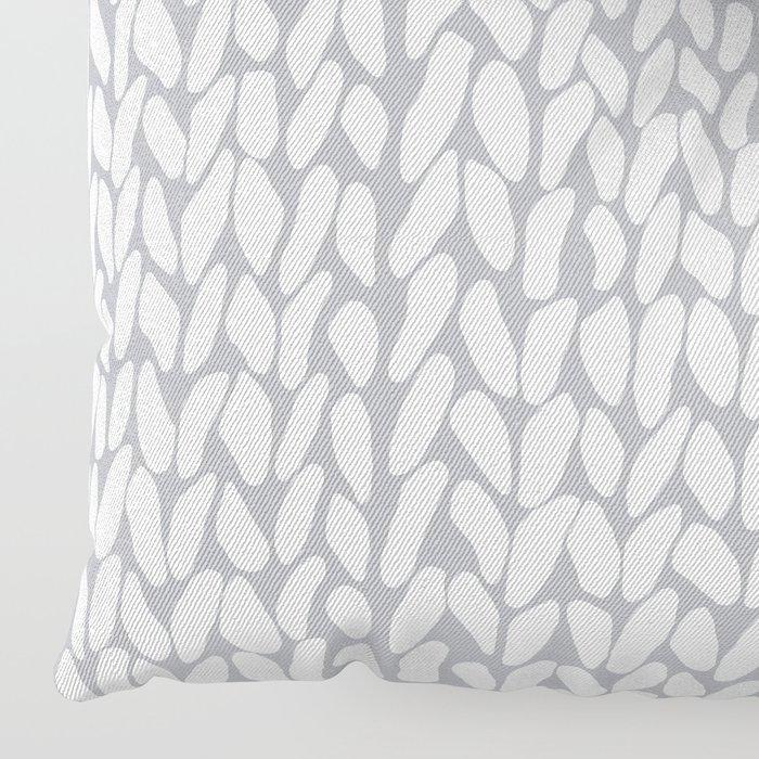 Half Knit Grey Floor Pillow