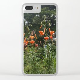 Japanese Tiger Lily at Studio Ghibli Museum Clear iPhone Case