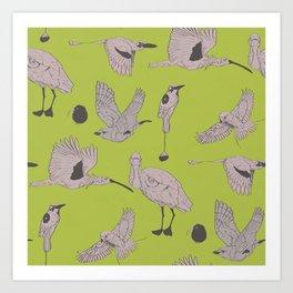 the BYrdZ: kiwi Art Print
