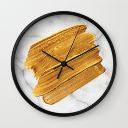 Gold on Marble Wall Clock