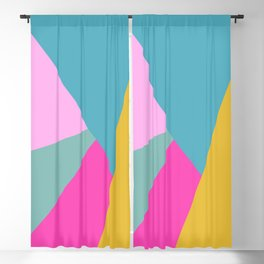Geometric Color Block #11 Brights Blackout Curtain