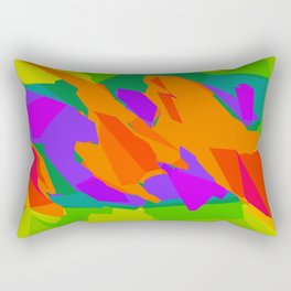 colorful abstract background in purple orange green and blue Rectangular Pillow