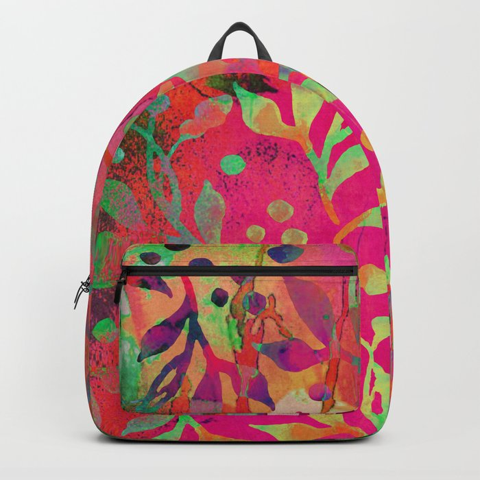 Tropical Summer colorful botanical pattern Backpack