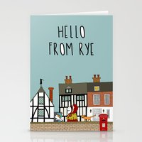 catcher in the rye Stationery Cards featuring Rye Street by Natallia Pavaliayeva