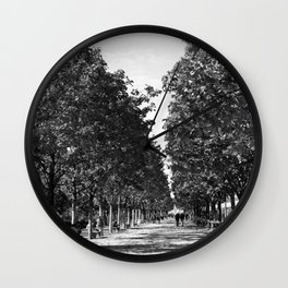 Paris in Black and White, Les Tuilleries Wall Clock