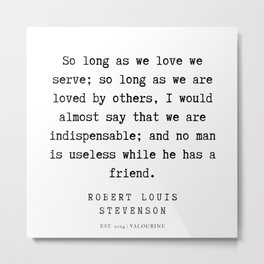 9  | Robert Louis Stevenson Quotes | 200113 Metal Print