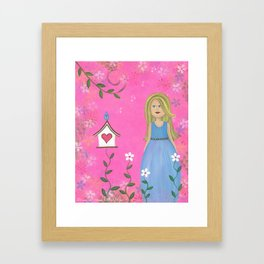 Tweet Moments - Cuckoo Bird House Kids Art Framed Art Print