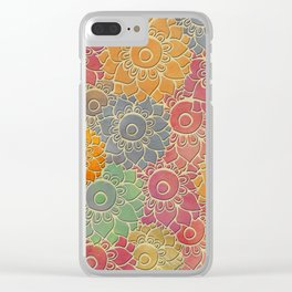 Flower Pattern 2 Clear iPhone Case