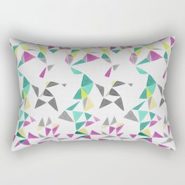 watercolor geometry  Rectangular Pillow