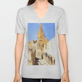 The Ruins of the Great Mosque, Gaza, Palestine - Sydney William Carline Unisex V-Neck