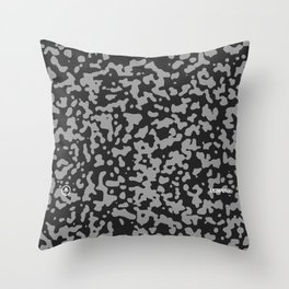 Comp Camouflage Pattern / Black Throw Pillow