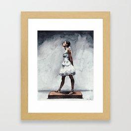 Misty Copeland Ballerina as the Little Dancer Framed Art Print