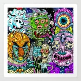 Rick and Friends Art Print
