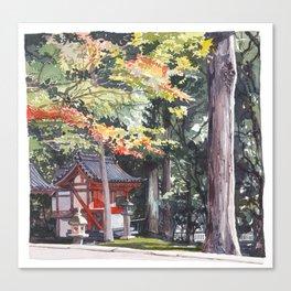 Shrine garden in Nara Canvas Print