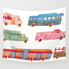 vehicles Wall Tapestry