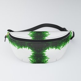 Green Cross Cannabis Leaves Fanny Pack