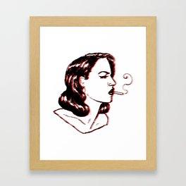 noir night Framed Art Print