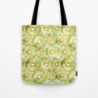 kiwi Tote Bags featuring kiwi by kociara
