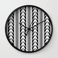 moroccan Wall Clocks featuring Moroccan Stripes by Caitlin Workman