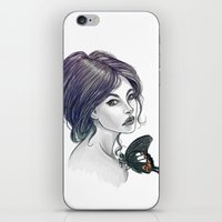 helen iPhone & iPod Skins featuring The Red Helen by pandatails