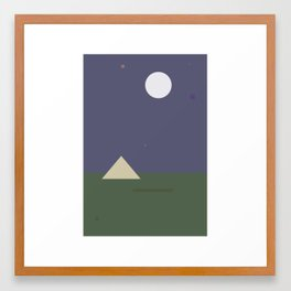 Night-time Shapes Framed Art Print