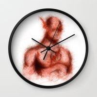 flash Wall Clocks featuring Flash by KitschyPopShop