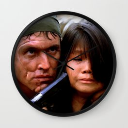 Tom Berenger in the film Platoon (2) - Oliver Stone 1986 Wall Clock