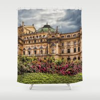 theatre Shower Curtains featuring Slowacki Theatre in Cracow by jbjart