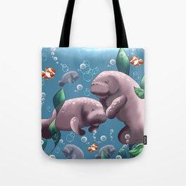 Manatee & Baby Tote Bag