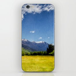 Green Fields & Mountain iPhone Skin