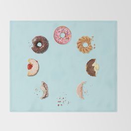 Donut Phases Throw Blanket