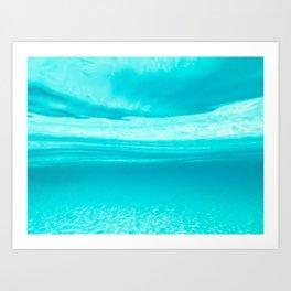 Underwater blues Art Print