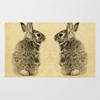 rabbit Area & Throw Rugs featuring Rabbit by Anna Shell
