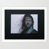 eddie vedder Art Prints featuring Eddie Vedder by Lady Lu