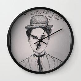 (Charlie Chaplin - Comic) - yks by ofs珊 Wall Clock