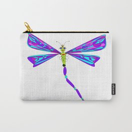 A Cutesy Dragonfly with Tulips Carry-All Pouch