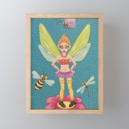 Fierce Fairy Framed Mini Art Print
