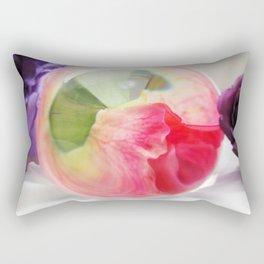 Pink Purple Floral Rose Fine Art Photography Pink Roses Rectangular Pillow