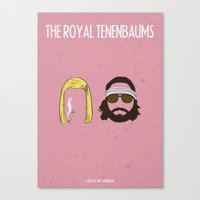 the royal tenenbaums Canvas Prints featuring The Royal Tenenbaums by gokce inan