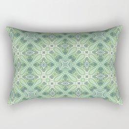 turquoise kaleidoscope pattern Rectangular Pillow