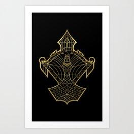 Sagittarius Gold Art Print