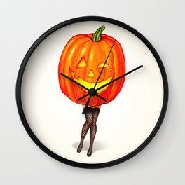 Pumpkin Pin-Up Wall Clock